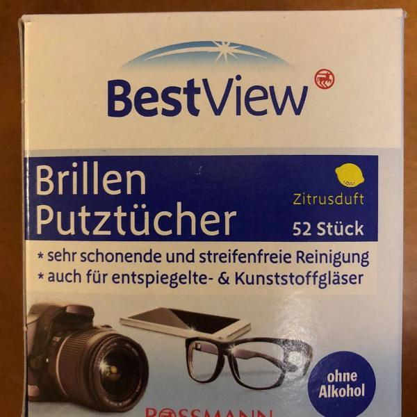 Lenços umedecidos lens wipes importado alemanha 6 caixas