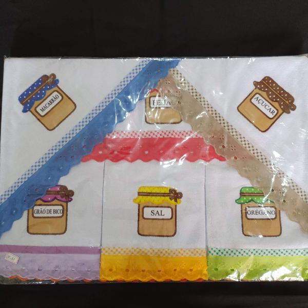 Pano de prato kit com 7 pcs