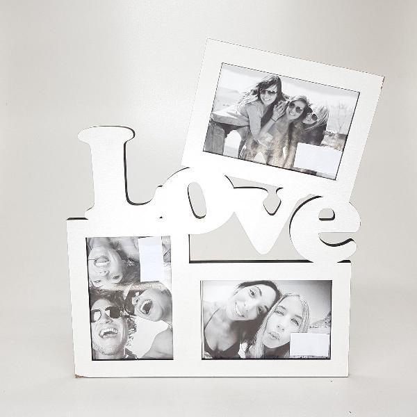 Porta retrato love branco foto 10x15 cm