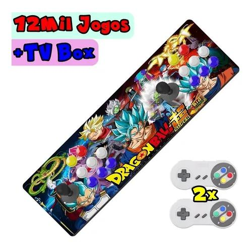 Arcade portátil 12500 jogos + tv imperdível + 2 controles