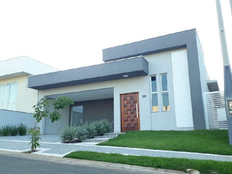 Casa térrea nova em condomínio em jaguariúna