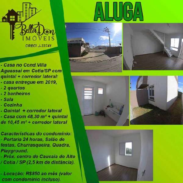 Locação - casa nova com 2 dormitórios em condomínio