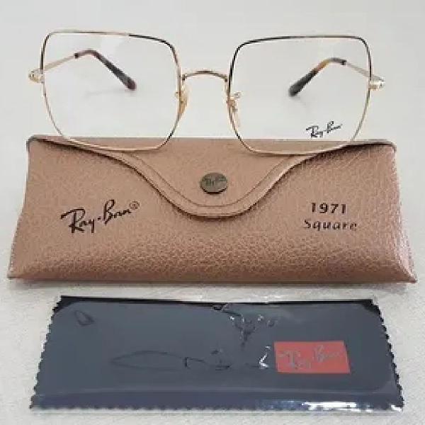 Armação gráu óculos ray ban square 1971 unissex novo