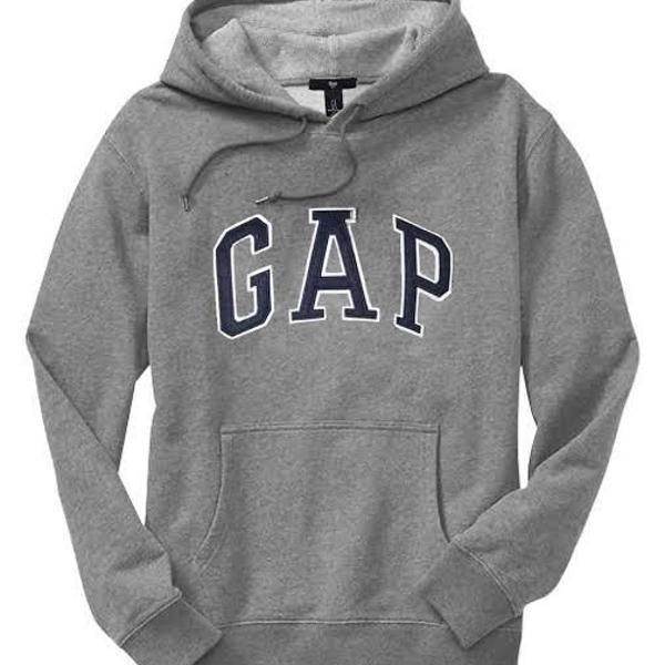 Blusa gap masculino de frio moletom c/capuz cinza (gg)