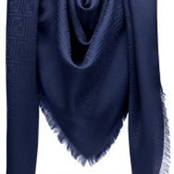 Echarpe cachecol lenço fendi azul