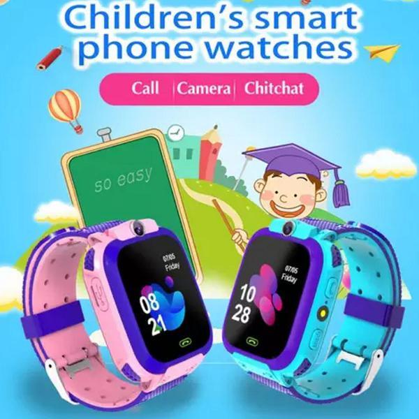 Relógio inteligente infantil s13 com gps rastreador