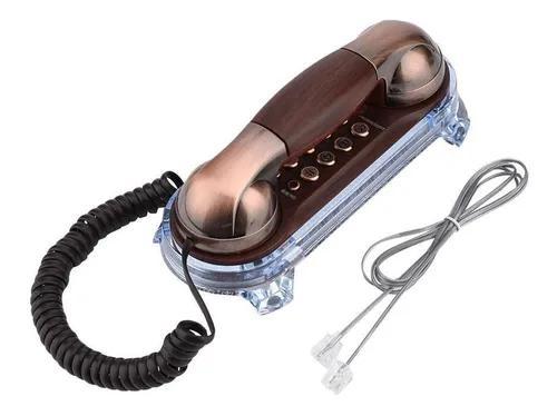 Antigo retro montado na parede telefone fio telefone fixo fa