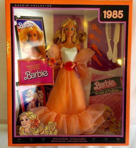 Barbie collector cápsula do tempo 1985 peaches 'n cream