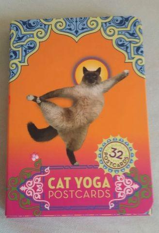 Cat yoga cartões postais