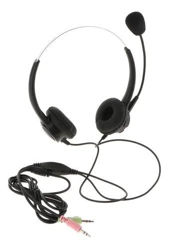Fio fone de ouvido para telefone, call center fone de ouvido