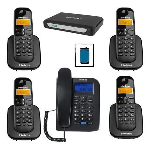 Kit minicom slim central telefônica fácil instalar