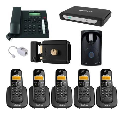 Kit pabx central telefonica minicom plus intelbras 6 ramais