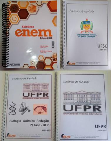 Material com apostilas, exercícios e provas para