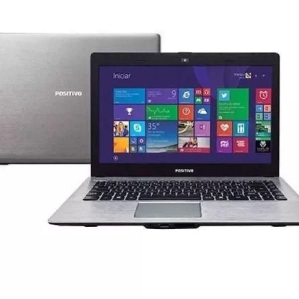 Notebook positivo cinza
