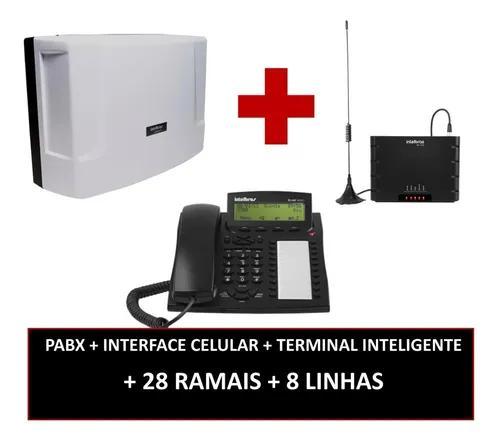 Pabx 8 linhas 32 ramais impacta 68i + interface celular