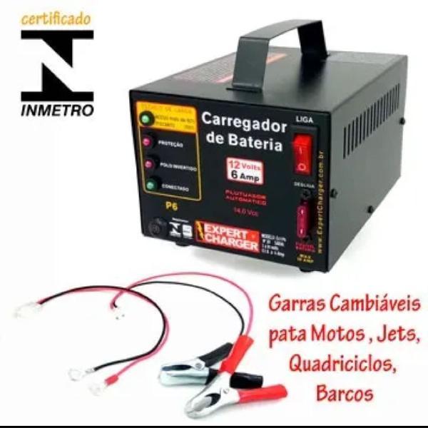 Carregador de bateria 12v + voltímetro grátis
