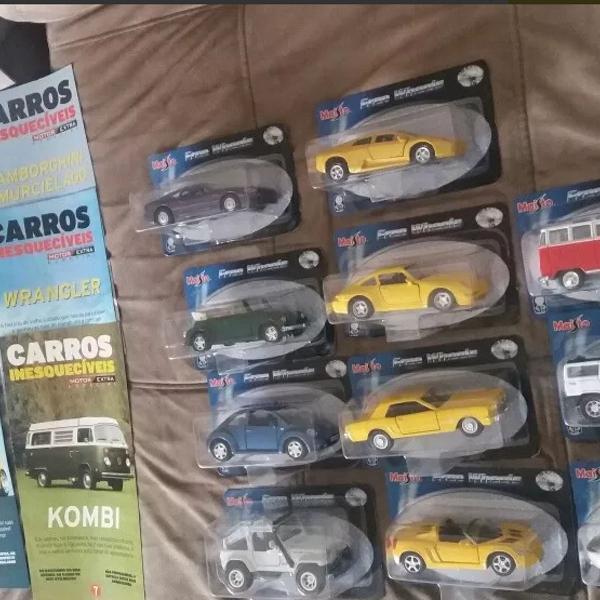Coleção miniaturas carros inesquecíveis