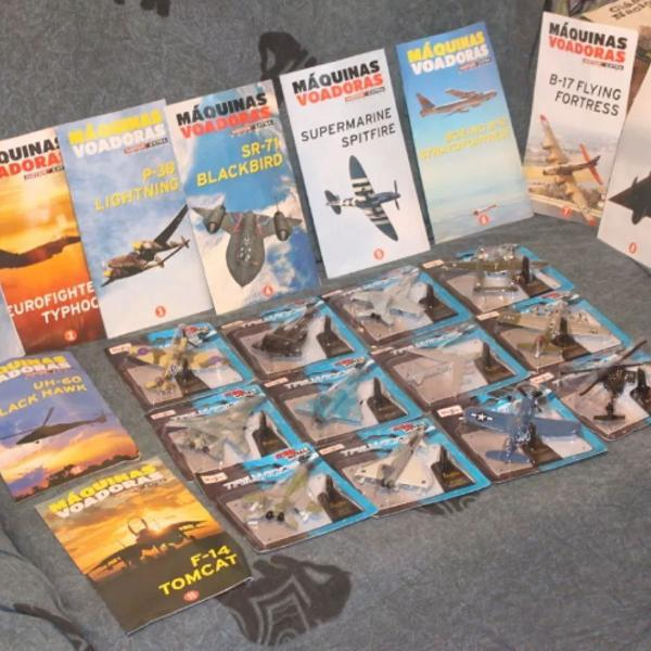 Coleção máquinas voadoras miniaturas de aviões jatos