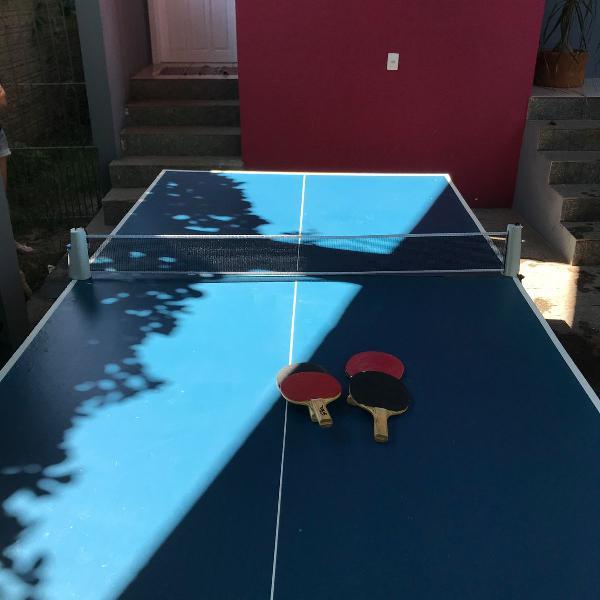 Mesa de ping pong/ tênis de mesa klopf dobrável com rodas