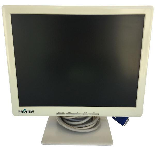 Monitor proview uk513 lcd 15 polegadas bege com cabos