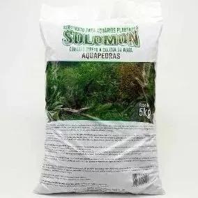 4 un substrato fértil solomon 5kg p/ aquario plantado