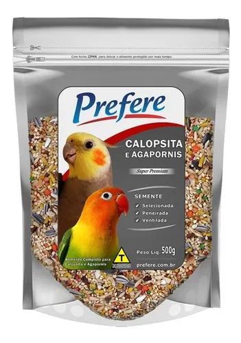 Alimento mistura calopsita agapornis super pr