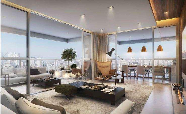 Apartamento de 156 m² na vila olímpia novo, 3 suítes, 3