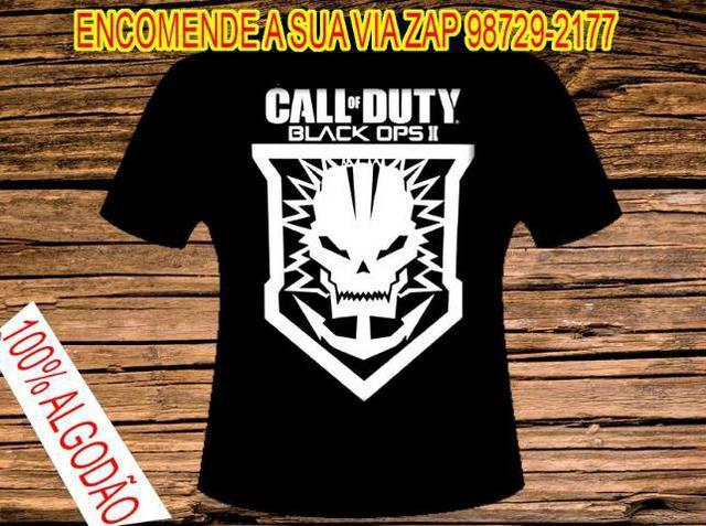 Camisa call of duty 100% algodao