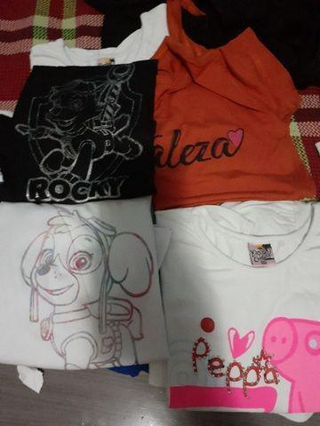 Camisetas infantil masculinas e femininas