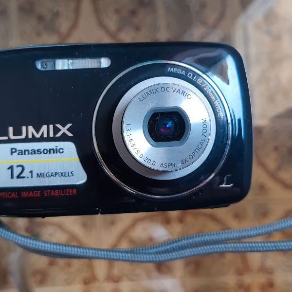 Câmera fotográfica panasonic lumix dmc-s1 12.1 mp preta