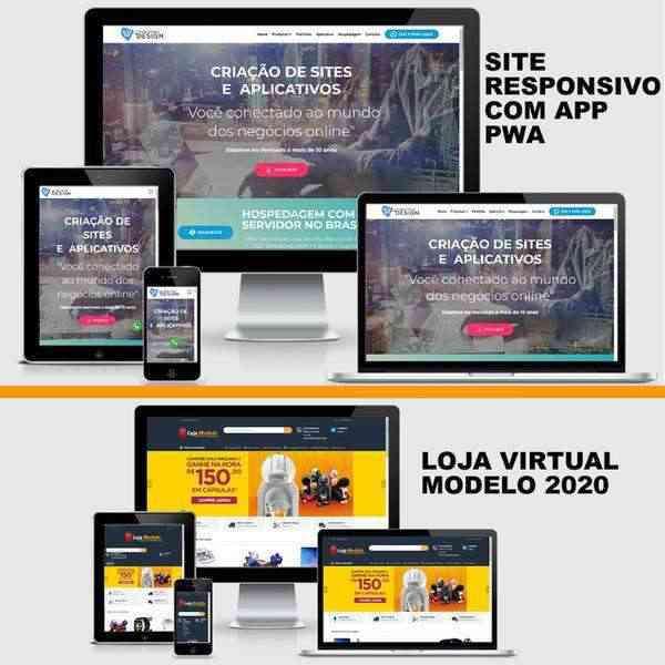 Criação de sites, marketplace e aplicativos pwa