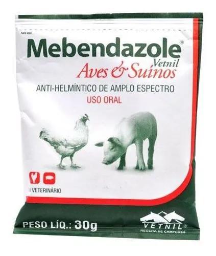 Mebendazole 30 gr - vetnil (vermifugo p/ aves, suínos)