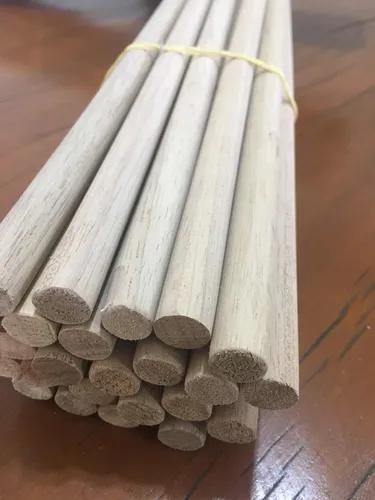 Poleiro de madeira - 15 unidades - 50 cm de comprimento
