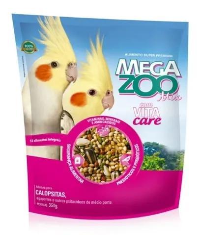 Ração megazoo mix para calopsitas 350g
