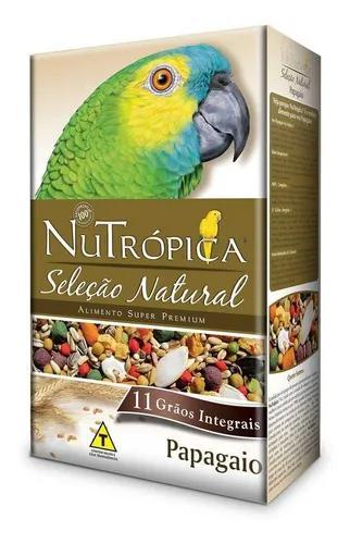 Ração nutrópica papagaio seleção natural 900g