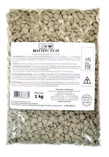 Ração para peixes de fundo bottom fish alcon 01 kg