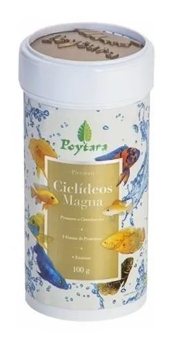 Ração para peixes poytara ciclideos magna 100g