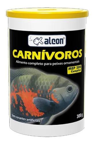 Ração peixes carnívoros 300g alcon cavernapet