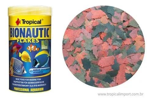 Ração tropical bionautic flakes 50g peixes marinhos