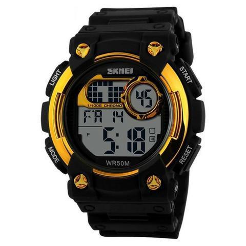 Relógio analógico/digital skmei, original, resistente à