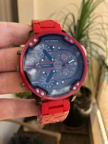 Relógio diesel dz7370 vermelho novo