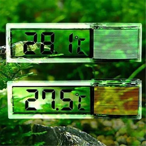 Termômetro digital luxo- sensor tela lcd 3d aquário