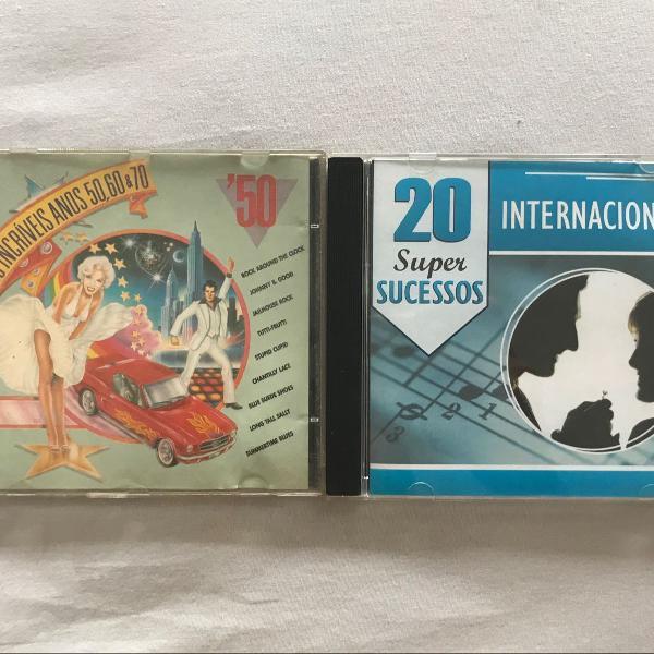 Cd combo coletâneas internacionais