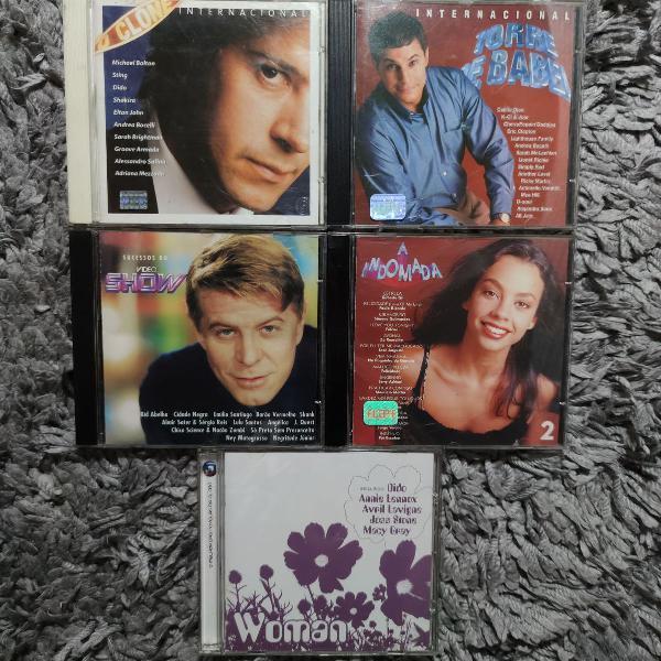 Kit 5 cds novelas da globo. mais de 60 músicas. o clone, a