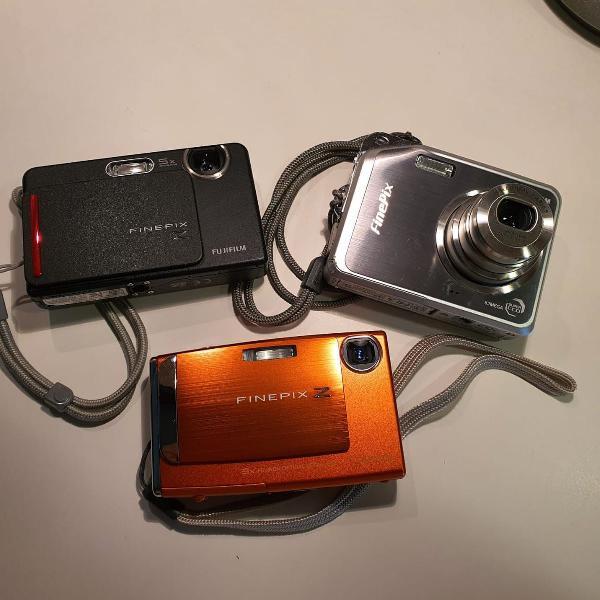 Kit com 3 câmeras digitais fujifilm finepix