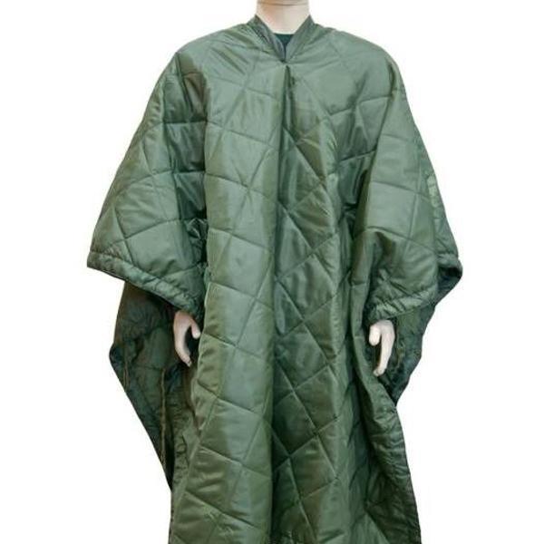 Manta leve verde tipo edredom térmica militar padrão