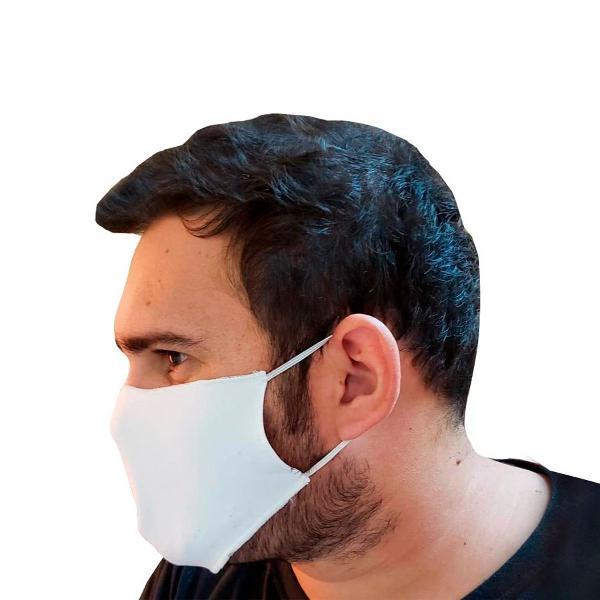 Máscara não descartável de tecido c/ forro proteção