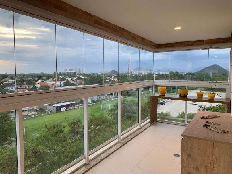 Apartamento mobiliado para alugar no Alphaland Barra da