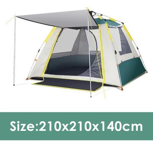 Barraca camping acampamento 3/4 pessoas grande varanda