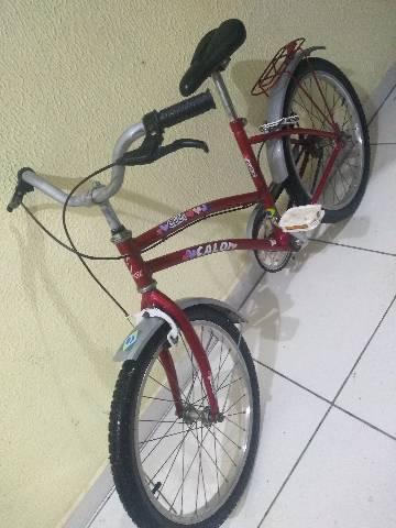 Bicicleta caloi infantil aro 20 revisada para vender hoje de